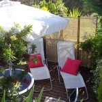 1.15 MOINHO - Private poolside terrace with sun loungers and dining tabl