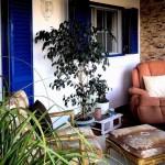 28CASA ALECRIM - Cozy conservatory corner in front of Bedrooms 1 and 3