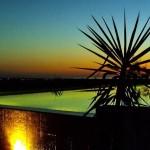 4.08 SALGADINHO - Illuminated swimming pool at sunset