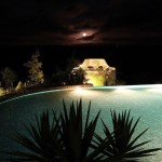 4.09 SALGADINHO - Night atmosphere with illuminated swimming pool, BBQ and panorama terrace