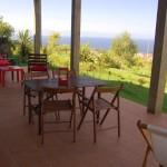 Casa da Fonte, veranda with sea view