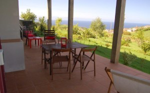 Casa da Fonte, veranda with sea view