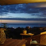 Casa da Talha, the dusk from the veranda